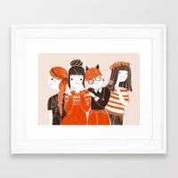 Four of us Framed Art Print