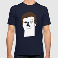 Steve Austin, the six millions dollars man Mens Fitted Tee Navy SMALL
