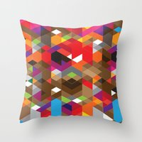 Life like a Geometry Throw Pillow