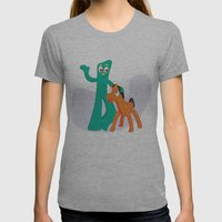 Gumby & Pokey Womens Fitted Tee Athletic Grey SMALL