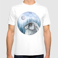 Rabbit  Mens Fitted Tee White SMALL