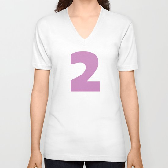 Number 2 V-neck T-shirt