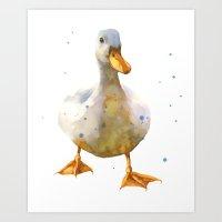 DUCK Print, Duck, Nurser… Art Print