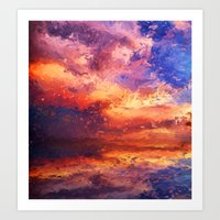 Sunset Abstraction Art Print
