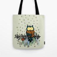 Owl In The Snow V2 Tote Bag