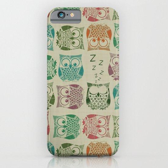 vintage sherbet owls iPhone & iPod Case