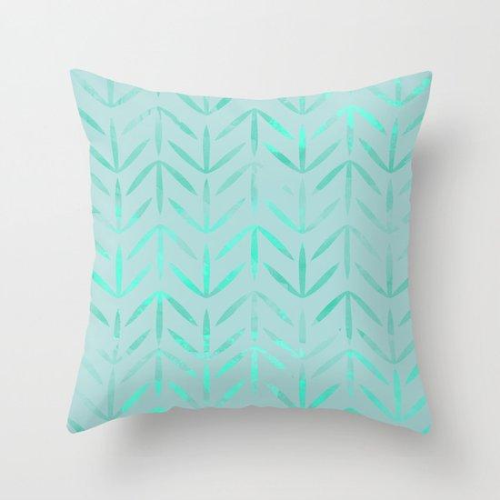 Neon Blue Throw Pillows : aqua neon blue color Throw Pillow by Sara Eshak Society6