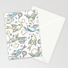 Twittering Tea Party Stationery Cards