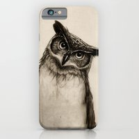 owls iPhone & iPod Cases featuring Owl Sketch by Isaiah K. Stephens