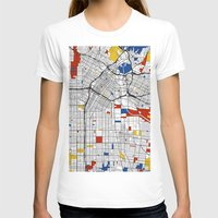 los angeles T-shirts featuring Los Angeles by Mondrian Maps