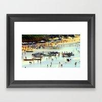 Rowing Regatta Framed Art Print