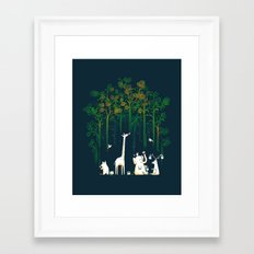 Re-paint the Forest Framed Art Print