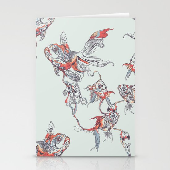 Floating in Deep Stationery Card