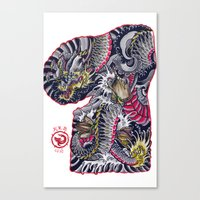 dragon flash Canvas Print