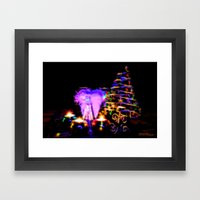 Christmas Dinner Aftergl… Framed Art Print