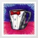 I drew you a Pee-wee Herman Suit Mug of Coffee Art Print