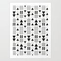 Black White Arrow Art Print