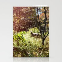 autumn deer. Stationery Cards