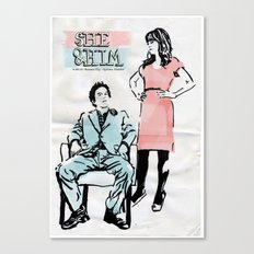 She & Him Gig Poster Canvas Print