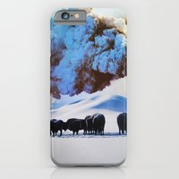 iPhone Cases featuring Buffalo Blast by John Turck