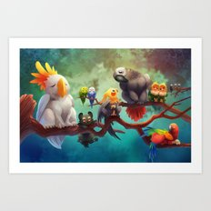 Griffins of a Feather Art Print