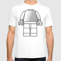 Make Yourself Mens Fitted Tee White SMALL
