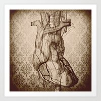 My Wooden Heart Art Print
