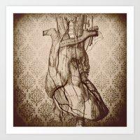 My Wooden Heart Art Print