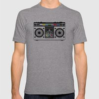 1 kHz #8 Mens Fitted Tee Athletic Grey SMALL