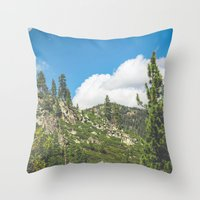 Lake Tahoe Mountains Throw Pillow