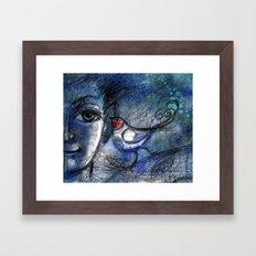 A bird told me... Framed Art Print