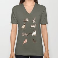 For cat lovers - watercolor of different cat breeds Unisex V-Neck