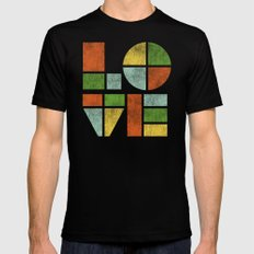 Love Is Mens Fitted Tee Black SMALL