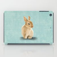 Portrait of a little bunny iPad Case