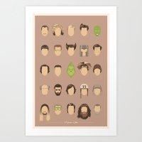25 FACES OF JIM Art Print