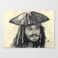 Captain Jack Sparrow ~ J… Canvas Print