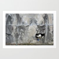 The Cat And The Nude Art Print
