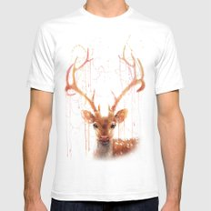 Fairy Deer Mens Fitted Tee White SMALL