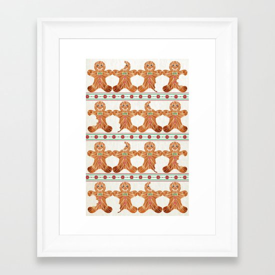 gingerbread man Framed Art Print