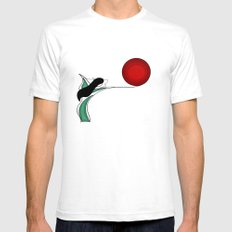 The transformation White SMALL Mens Fitted Tee