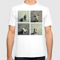 Tiny Menagerie Mens Fitted Tee White SMALL