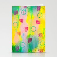 Walking On Happiness Stationery Cards