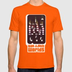 War Of The 8-Bit Worlds Mens Fitted Tee Orange SMALL