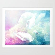 Swans In The Sky Art Print
