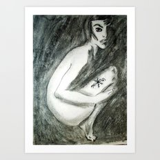 NUDE IN PI Art Print