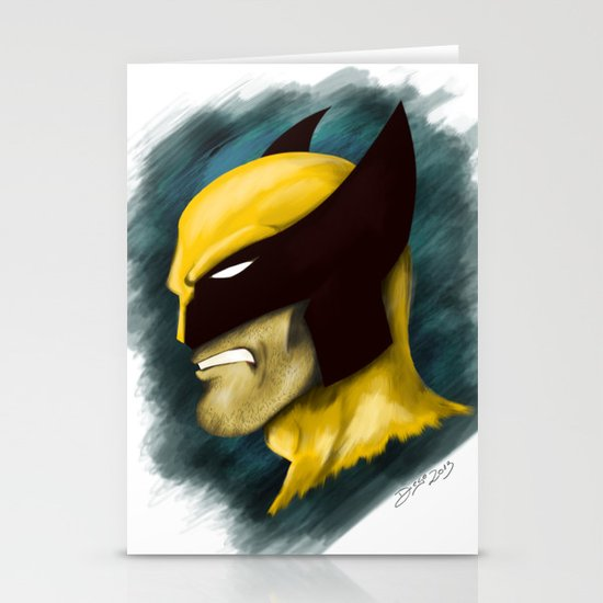 Wolverine Stationery Card