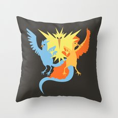Pocket monster 144 145 and 146 Throw Pillow