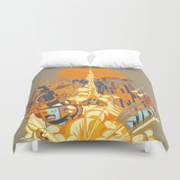 Smash! Zap!! Zooom!! - Butt-Chinned Captain Duvet Cover