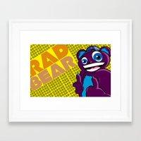 Thee Rad bear  Framed Art Print