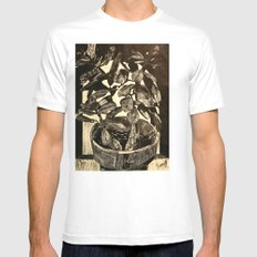 Plant White Mens Fitted Tee SMALL